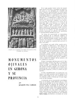 MONUMENTOS OJIVALES EN GERONA Y SU PROVINCIA