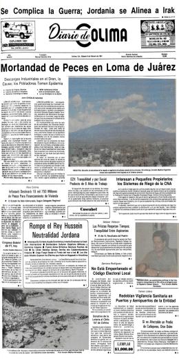 Mortandad de Peces en Loma de Juárez