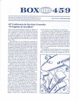Box 459 - Junio-Julio 1994 - 44 Conferencia de Servicios Generales