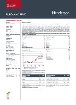 Ficha mensual - Henderson Global Investors