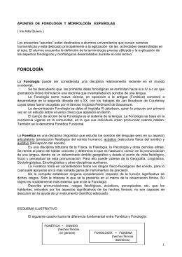 APUNTES DE FONOLOGIA Y MORFOLOGIA ESPAOLA