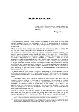 infancia en tacna - Universidad Nacional Jorge Basadre Grohmann