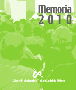 Descargar Memoria 2010 - Colegio Profesional de Trabajo Social