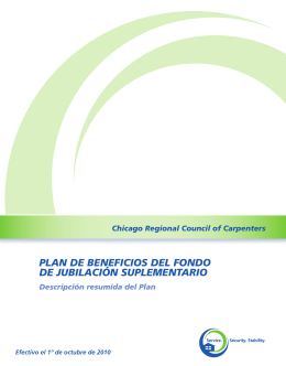 Chicago Regional Council of Carpenters PLAN DE BENEFICIOS