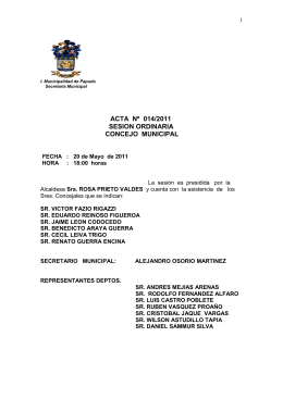 Mayo 20 - Municipalidad de Papudo