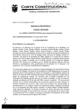 t - Corte Constitucional del Ecuador
