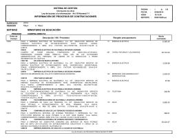 información de procesos de contrataciones ministerio de educación