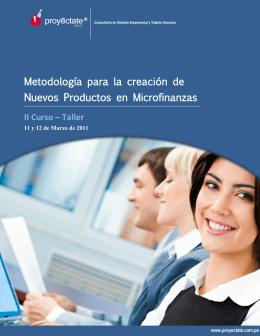 Metodología para la creación de Nuevos Productos en Microfinanzas