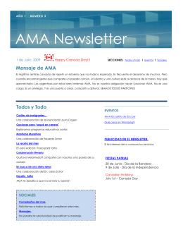 AMA Newsletter