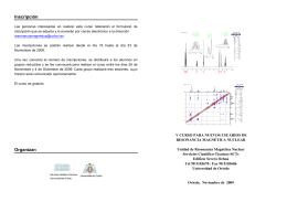 Inscripción Organizan - Servicios Científico-Técnicos