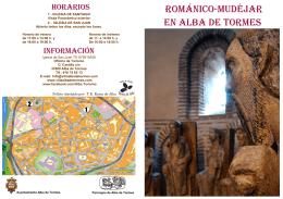 Folleto Románico-Mudéjar en Alba de Tormes