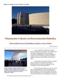 """Mamut y sin sentido: La nueva """"iglesia"""" en Fátima"""