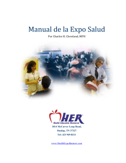 !! Manual!de!la!Expo!Salud!