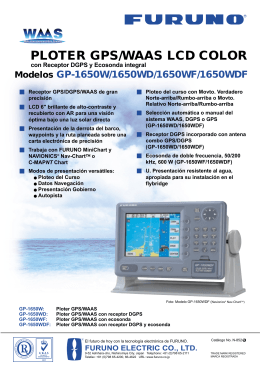 PLOTER GPS/WAAS LCD COLOR