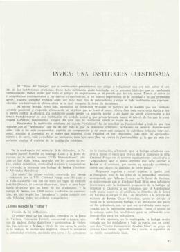 1NVICA: UNA INSTITUCIÓN CUESTIONADA