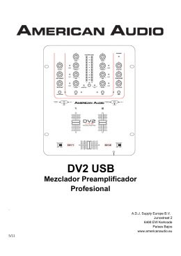 Manual American Audio DV2 USB