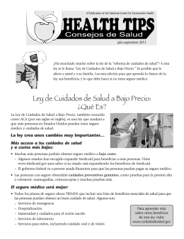 Health Tips PFver Esp - National Center for Farmworker Health