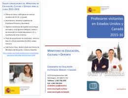 Profesores visitantes en Estados Unidos y Canadá 2015-16