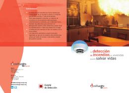 La detección de incendiosen viviendas puede salvar vidas