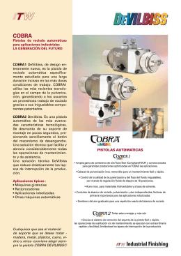 Pistolas de rociado automáticas para aplicaciones industriales LA