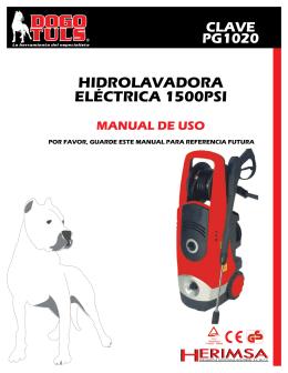 hidrolavadora eléctrica 1500psi manual de uso