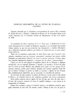 Conjunto monumental de la ciudad de Plasencia (Cáceres)