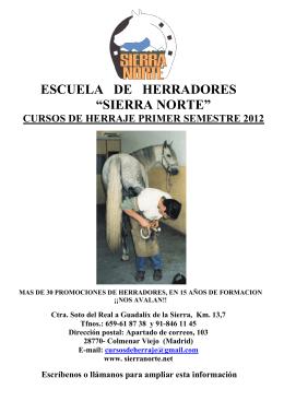 """ESCUELA DE HERRADORES """"SIERRA NORTE"""""""