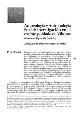 Arqueología y Antropología - Oficina de la UNESCO en MONTEVIDEO