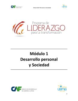 Desarrollo Personal y Sociedad - Programa Liderazgo para la
