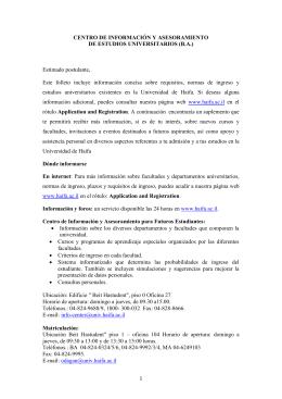 1 CENTRO DE INFORMACIÓN Y ASESORAMIENTO DE ESTUDIOS