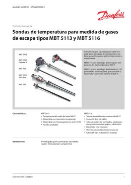 Sondas de temperatura para medida de gases