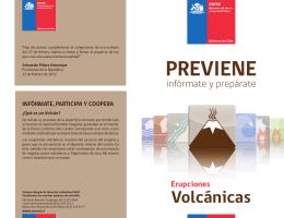 Folleto Erupciones Volcánicas