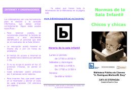 DATOS BIBLIOTECA - Bibliotecas Públicas