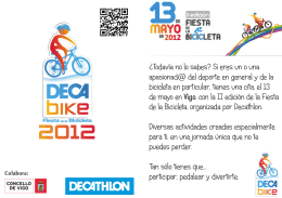 Folleto Fiesta de la Bicicleta Decathlon