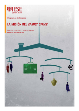 LA MISIóN DEL FaMIly OFFICE