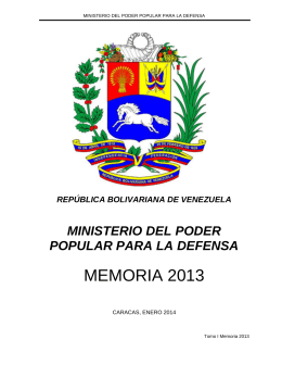 MEMORIA 2013 - Transparencia Venezuela