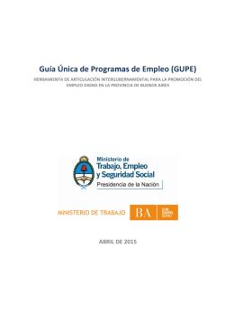 Guía Única de Programas de Empleo