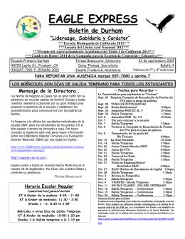 EAGLE EXPRESS Boletín de Durham