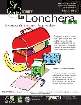 La Lonchera: Almuerzos saludables para ninos