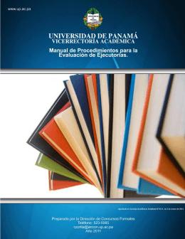 Manual de Procedimientos para la Evaluación de Ejecutorias