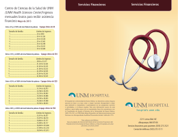 (UNM Health Sciences Center) Ingresos