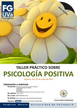2012 PSICOLOGÍA POSITIVA Folleto Segovia.cdr