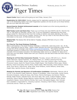 Tiger Times - Mission Dolores Academy