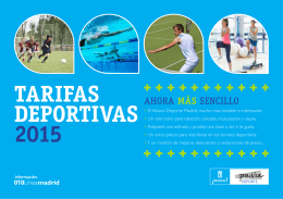 Tarifas deportivas 2015