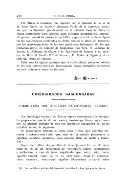 curiosidades bascongadas etimología del apellido bascongado