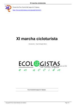 XI marcha cicloturista - Foro Social de Campo de Criptana