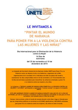 pintar el mundo de naranja para poner fin a la violencia contra las