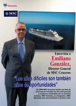 Emiliano González Director general de MSC Cruceros