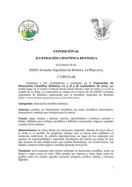 ExpoICB Jornadas2013 - Sociedad Argentina de Botánica