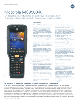 Motorola MC9500-K Un dispositivo móvil industrial de alta